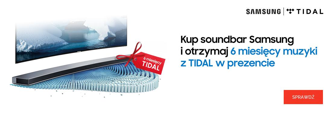 Samsung - Soundbary + konto premium TIDAL