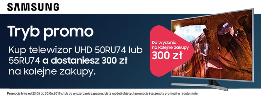 Kup telewizor Samsung a dostaniesz 300 zł na kolejne zakupy