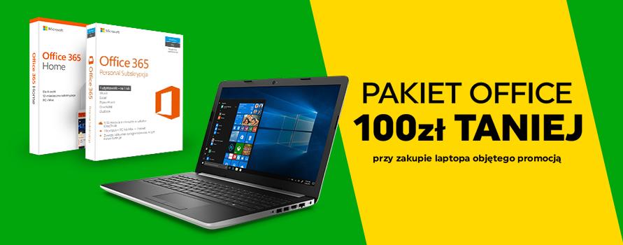 Pakiet Office 100zł taniej przy zakupie laptopa objętego promocją
