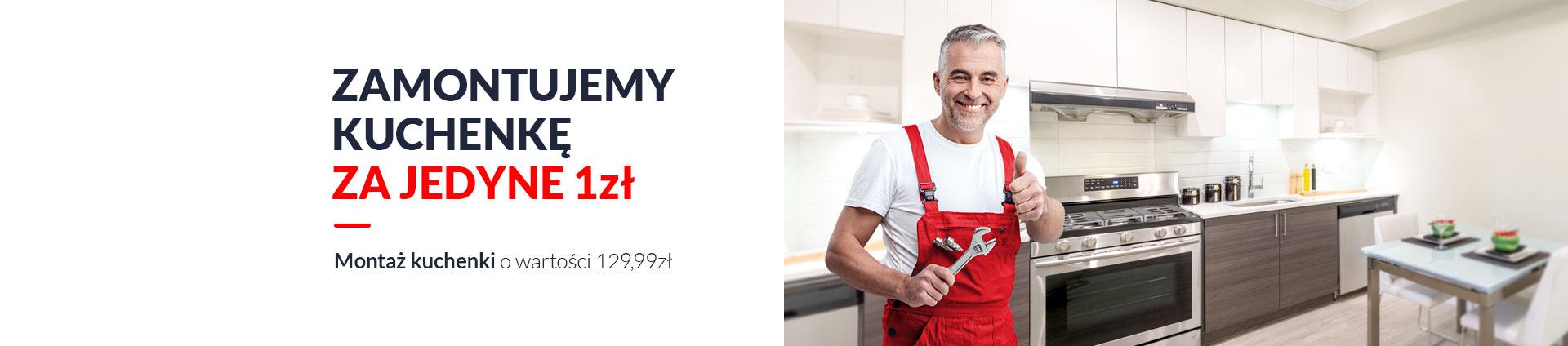 Montaż kuchenki za 1 zł, zamontujemy za Ciebie