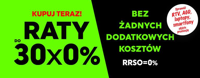 Raty do 30x0%