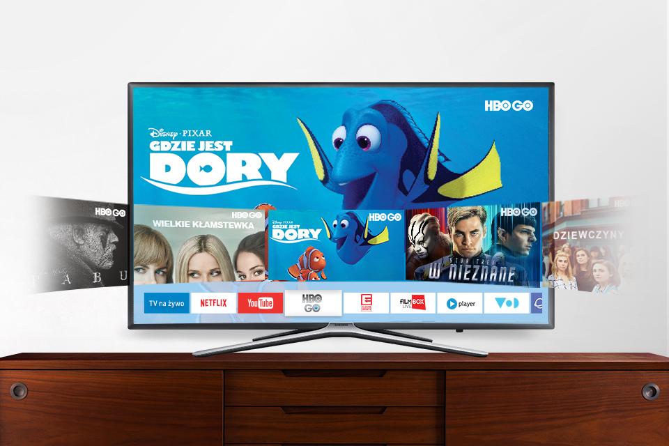 Samsung Könnyű hozzáférés az alkalmazásokhoz, filmek és sorozatok.  smart Hub