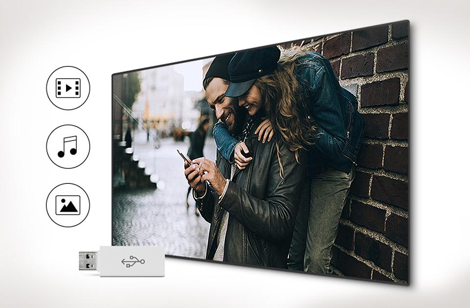 Samsung Easy hozzáférés kedvenc tartalmat az USB-meghajtót.  Connect Share Movie