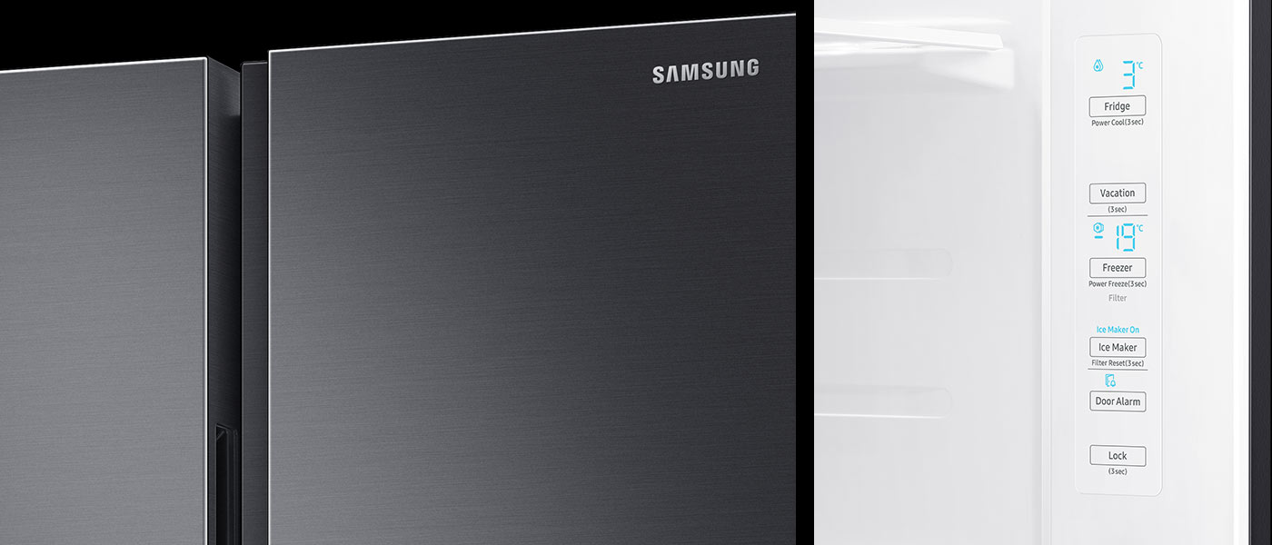Nowoczesny wygląd lodówki Samsung