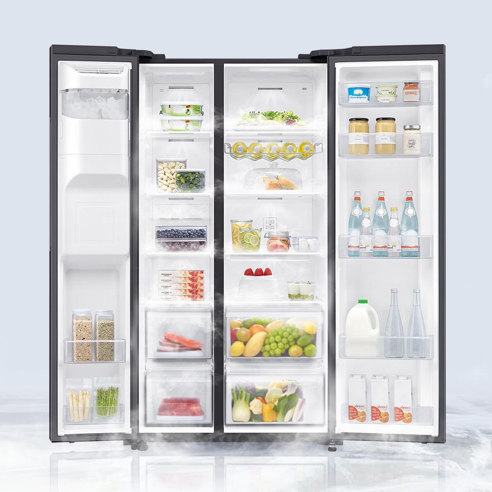Wydajny system chłodzenia dociera do każdej części lodówki