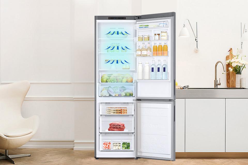 Samsung Chłodne powietrze w każdym zakamarku lodówki! All Around Cooling