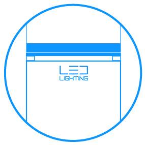 Samsung Oświetlenie LED. Jasne wnętrze lodówki